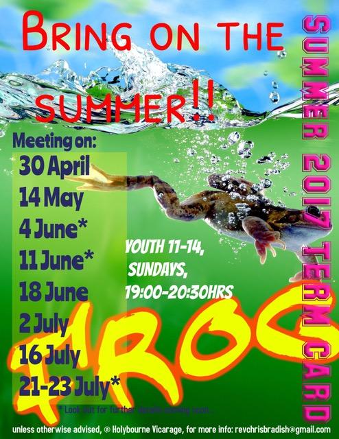 FROG - Summer Term Card