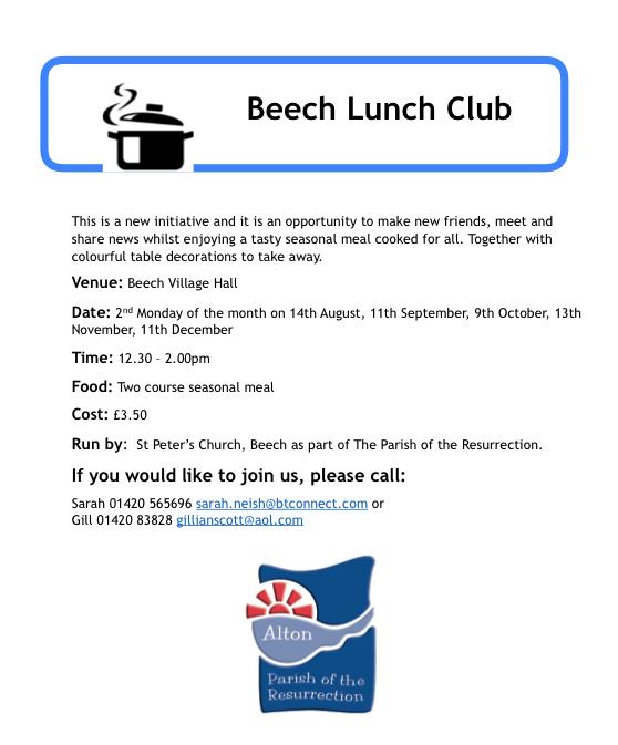 Beech Lunch Club - Autumn 2017
