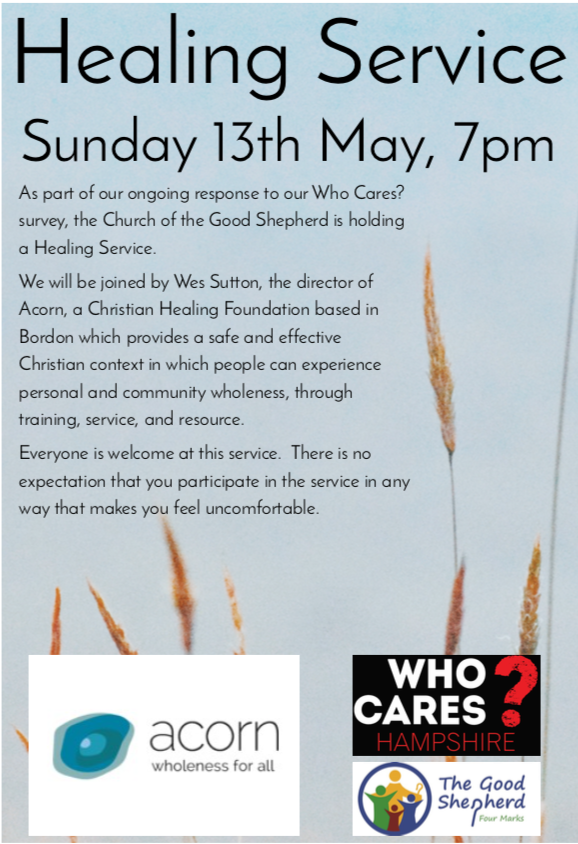 Healing Service – Church of the Good Shepherd, Four Marks